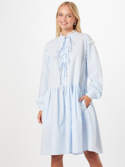 Rochie tip bluză 'Elena' Résumé pe albastru deschis, Vizualizare model