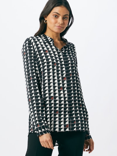 Someday Bluse in rot / schwarz / weiß, Modelansicht