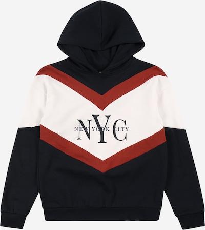 NAME IT Sweater majica 'OLINKA' u noćno plava / hrđavo crvena / bijela, Pregled proizvoda