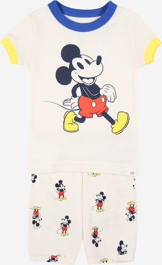 GAP Schlafanzug in royalblau / gelb / rot / schwarz / offwhite, Produktansicht