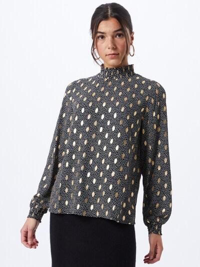 ONLY Blusa 'UNA' en oro / negro, Vista del modelo