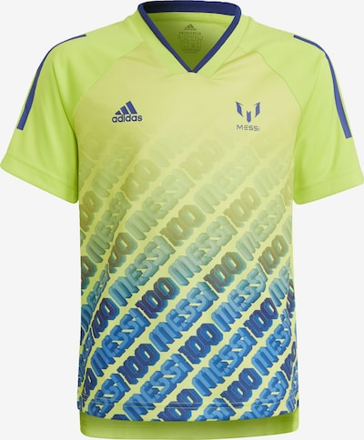 ADIDAS PERFORMANCE Performance Shirt 'Messi Iconic' in Blue / Neon yellow, Item view