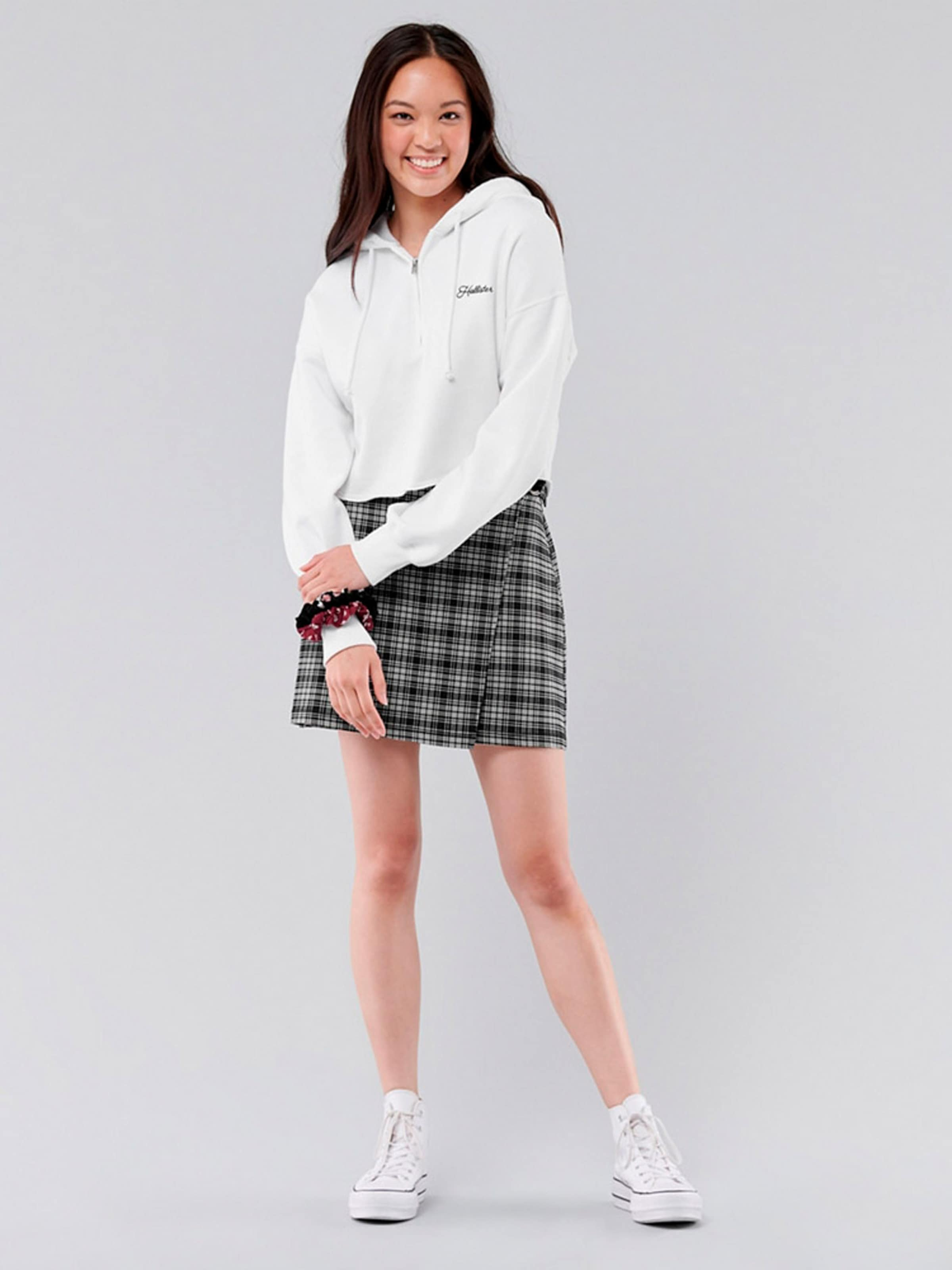 HOLLISTER Kjol i svart / vit