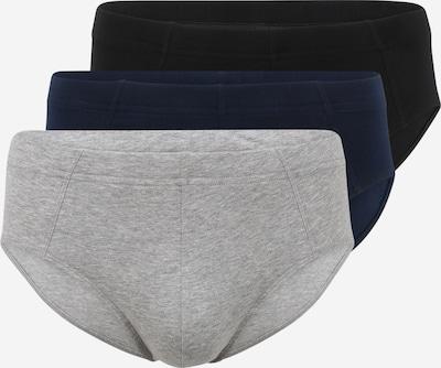 SCHIESSER Slipy ' 3er-Pack 95/5 ' - tmavě modrá / světle šedá / černá, Produkt