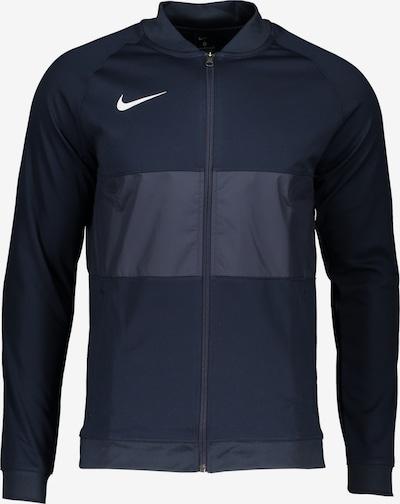NIKE Trainingsjacke in rauchblau / nachtblau / weiß, Produktansicht