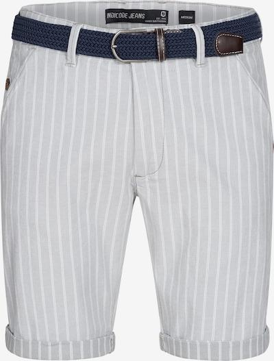 INDICODE JEANS Shorts in grau / altrosa / weiß, Produktansicht