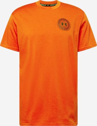 UNDER ARMOUR Functioneel shirt in de kleur Donkeroranje / Zwart, Productweergave
