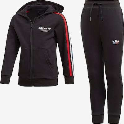 ADIDAS ORIGINALS Jogginganzug in blau / rot / schwarz / weiß, Produktansicht