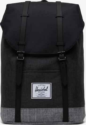 Herschel Rucksack 'Retreat' in graumeliert / schwarz, Produktansicht