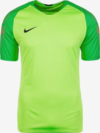 NIKE Ttrikot 'Gardien II' in neongrün / dunkelgrün / rot, Produktansicht