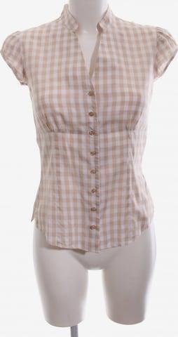 TM Lewin Kurzarm-Bluse in XS in Beige