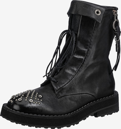 A.S.98 Lace-Up Ankle Boots ' A58204-0301' in Black / Silver, Item view