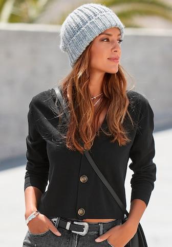 BUFFALO Knit Cardigan in Black