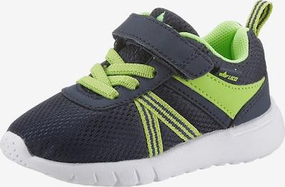 LICO Sneaker in dunkelblau / neongrün, Produktansicht