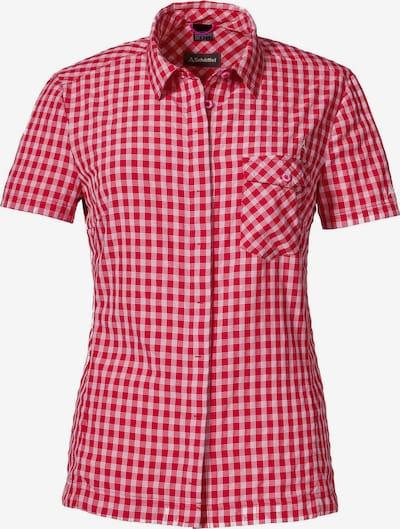 Schöffel Funktionsbluse 'Garda' in rot / weiß, Produktansicht