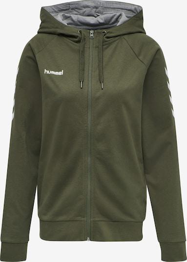 Hummel Sweatjacke in dunkelgrün / weiß, Produktansicht