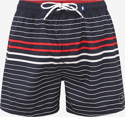 TOM TAILOR Swimming shorts 'Simon' in navy / red / white, Item view