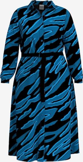 Rock Your Curves by Angelina K. Blusenkleid in blau / schwarz, Produktansicht