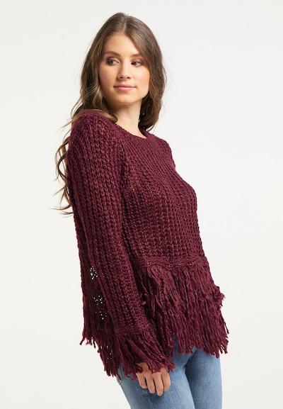 IZIA Pullover in bordeaux, Modelansicht