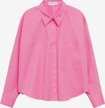 MANGO Bluse 'Leon' in Pink