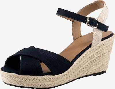 TOM TAILOR Sandale in sand / dunkelblau, Produktansicht