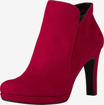 Ankle boots di TAMARIS in rosso