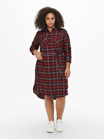 ONLY Carmakoma Shirt Dress 'Pini' in Red / Black / White, View model
