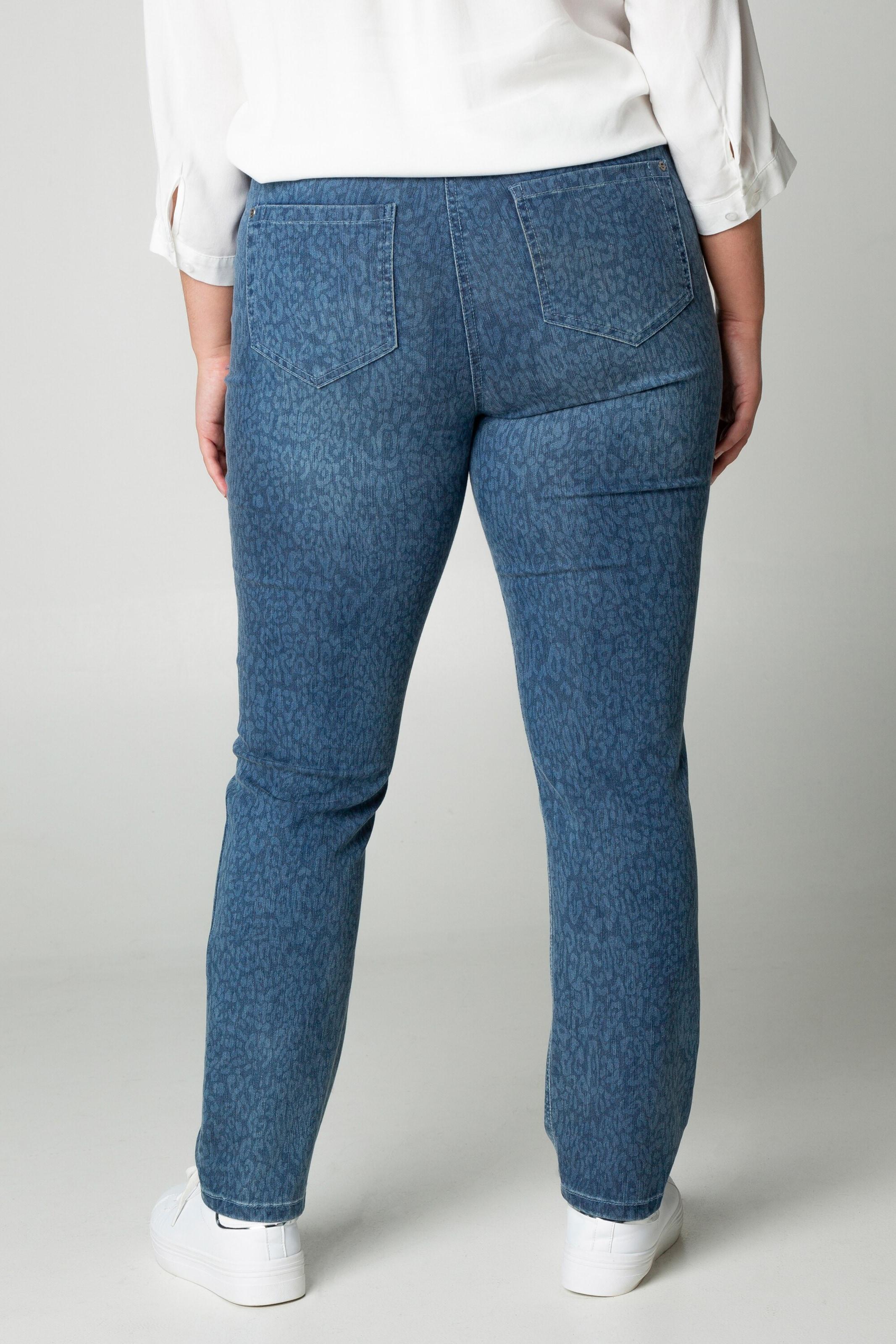 Ulla Popken Leo-Jeans in blue denim