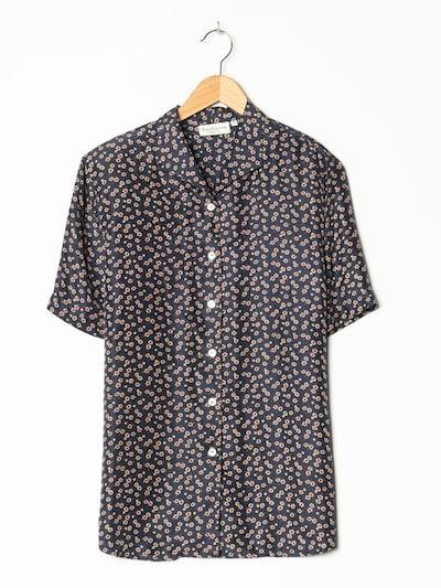 Franco Callegari Bluse in XL in dunkelblau, Produktansicht