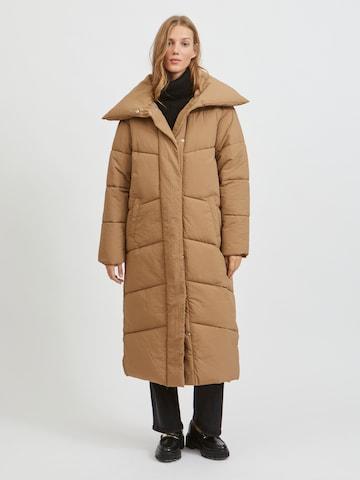 VILA Winter Coat in Brown