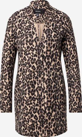 VERO MODA Between-Seasons Coat 'Katrine' in Brown