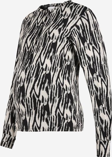 MAMALICIOUS Blusa 'Sebra Lia' en beige / negro, Vista del producto