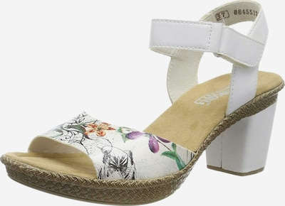 RIEKER Sandalette in grasgrün / lila / orange / schwarz / weiß, Produktansicht