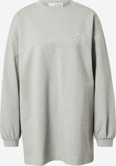SELECTED FEMME Sweatshirt in hellgrau / weiß, Produktansicht