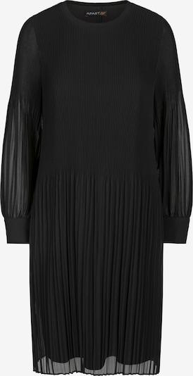 APART Plisseekleid aus einer leicht körnigen Ware in schwarz, Produktansicht