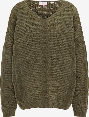 IZIA Υπερμέγεθες πουλόβερ σε πράσινο