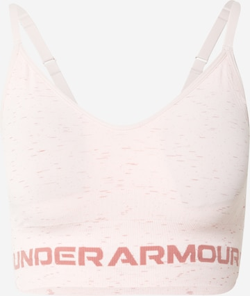 UNDER ARMOUR Sports Bra 'Seamless' in Pink