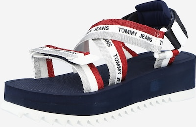 Tommy Jeans Sandale in navy / silbergrau / rot / weiß, Produktansicht