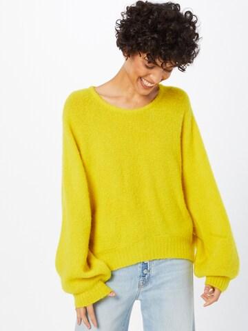AMERICAN VINTAGE Sweter 'East' w kolorze żółty
