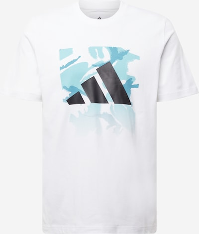 ADIDAS PERFORMANCE Sport-Shirt in hellblau / schwarz / weiß, Produktansicht