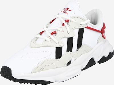 ADIDAS ORIGINALS Sneaker 'Ozweego' in beige / rot / schwarz / weiß, Produktansicht
