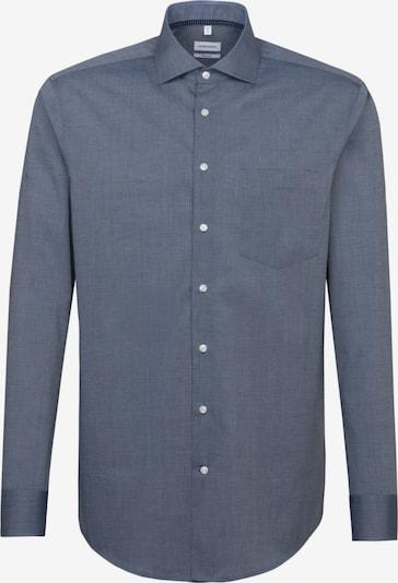 SEIDENSTICKER Zakelijk overhemd in de kleur Smoky blue: Vooraanzicht