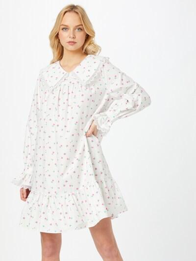 Crās Košilové šaty 'Alexiscras' - světle zelená / růžová / bílá, Model/ka