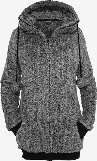 Urban Classics Teddy Hoody in grau / schwarz, Produktansicht