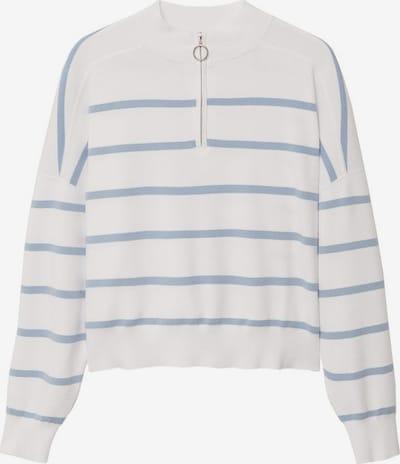 MANGO Pullover 'Survir' in himmelblau / weiß, Produktansicht