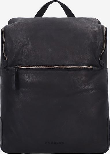 Harold's Rucksack in schwarz, Produktansicht