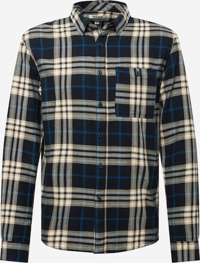 TOM TAILOR DENIM Hemd in creme / dunkelblau / schwarz, Produktansicht