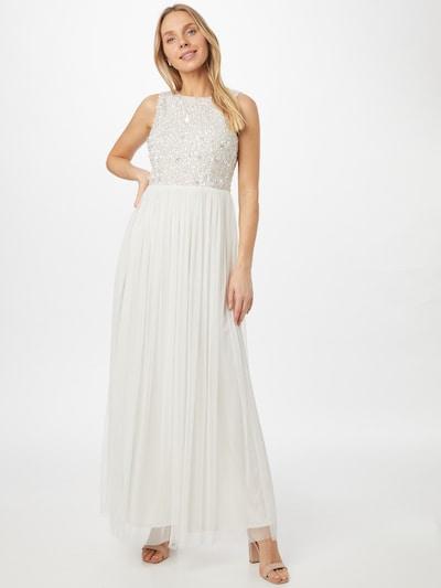 gyöngyház-fehér LACE & BEADS Estélyi ruhák 'Picasso', Modell nézet
