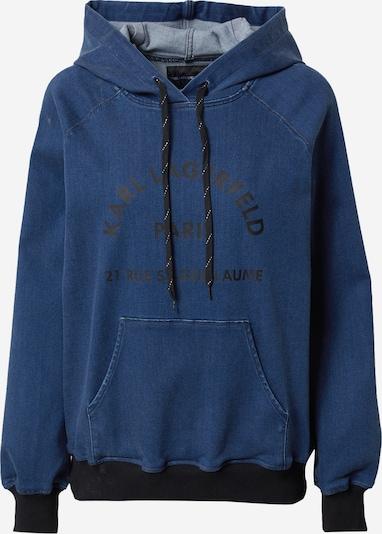 Karl Lagerfeld Denim Sweat-shirt en bleu denim / noir, Vue avec produit