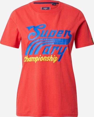 Tricou 'Cali' Superdry pe albastru regal / galben / roșu rodie, Vizualizare produs